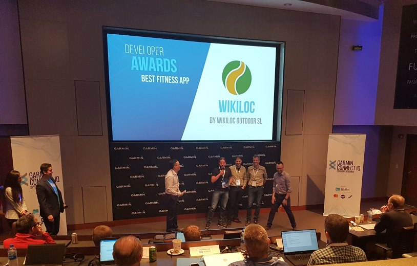 Wikiloc wins Garmin Developer Awards for Best Fitness App2