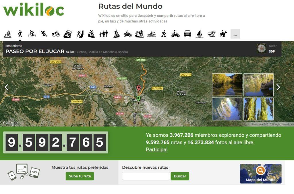 Wikiloc es converteix en l'eina de promoció de la salut de les administracions