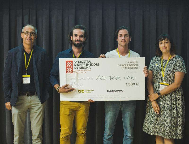 Guanyadors de la 9a edició de la Mostra d'Emprenedors de Girona. Les fotos són d'ElGiroscopi.